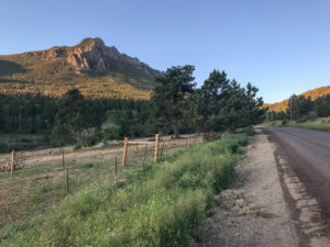 Fish Creek Road and Twin Sisters Mountain