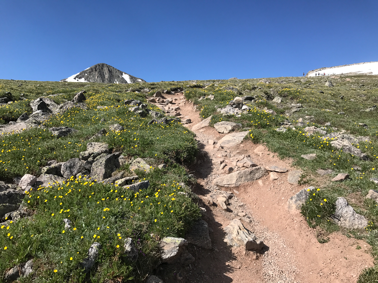 The summit peaking over the flanks of Flattop